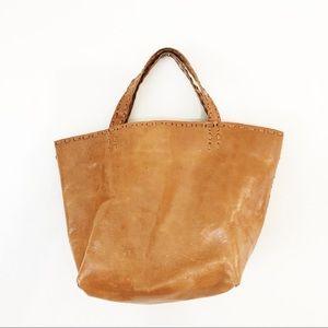 Antik Batik Goat Leather Natural Camel Small Bag